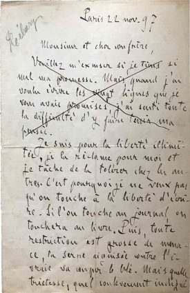 ZZola 22 novembre 1897 (1) Réduite Détourée