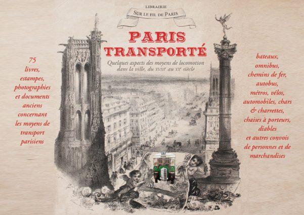 Paris transporté - catalogue de livres et documents anciens 2020